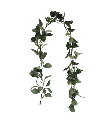 Fresh Picked Spring 66'' Lamb's-ear & Berry Garland