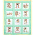 Stamped White Quilt Blocks 9\u0022X9\u0022 12/Pkg-Teddy Bears