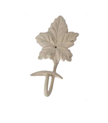 Simply Autumn Metal Leaf Hook-Ivory
