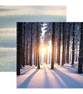 Snow Day Double-Sided Cardstock 12\u0022X12\u0022-Sunset