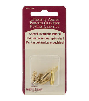 Creative Woodburning Special Technique Points 5/Pkg-Assorted