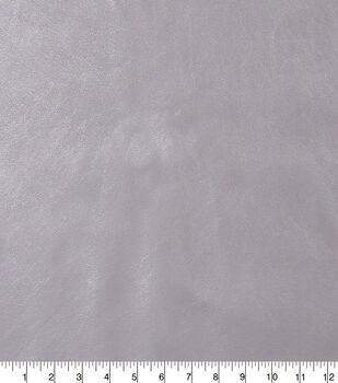Faux Leather Fabric-Smooth Silver