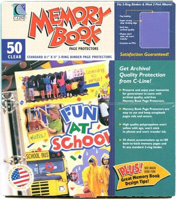 "Memory Book 8.5""x11"" Page Protectors-50PK/Top-Loading"