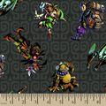 Nintendo The Legend of Zelda Characters Print Fabric