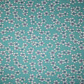 Asian Inspired Premium Cotton Print Fabric -Tossed Flowers on Teal