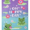 No Sew Fleece Throw 48\u0022-Oh Happy Day