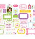 Echo Paper Company Ephemera Die Cut Frames & Tags-Perfect Princess