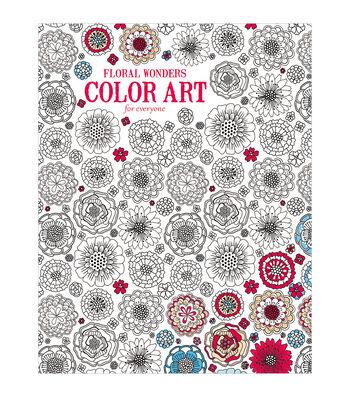 Adult Coloring Book-Leisure Arts Floral Wonders