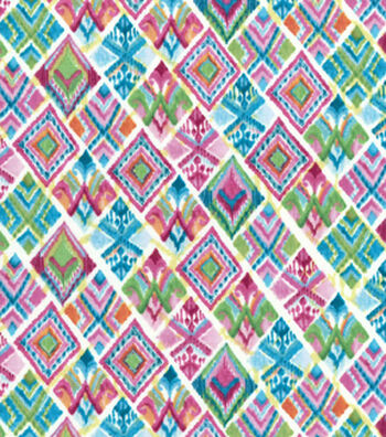 Modern Premium Cotton Print Fabric 43''-Multi Patterned Triangles