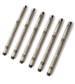 Pigma Micron Pen Set-6PK/Black