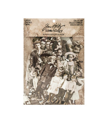 Tim Holtz Idea-ology Pack of 33 Paper Dolls
