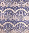 Casa Collection Eyelash Lace Fabric 56\u0027\u0027-Mazarine Blue