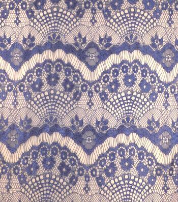Casa Collection Eyelash Lace Fabric 56''-Mazarine Blue