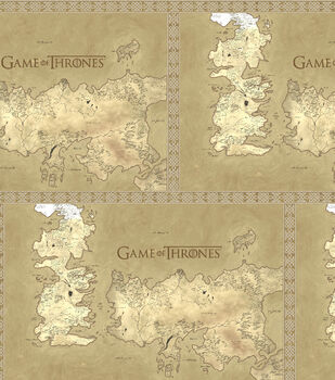 Game Of Thrones Cotton Fabric -Map Of Westeros