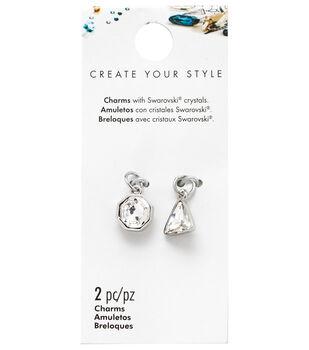 Swarovski Create Your Style Mini Octagon & Triangle Charms
