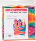 Yarn & Craft Storage Cube 12\u0022X12\u0022X12\u0022-Orange Tie Dyed