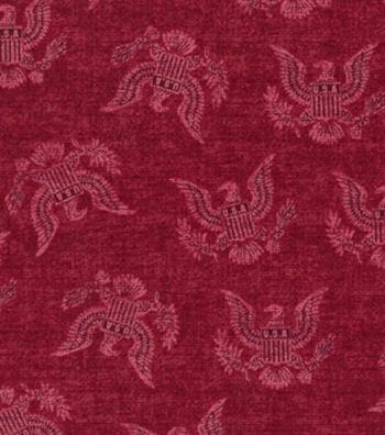 Patriotic Cotton Fabric 43''-Red Eagle Seal