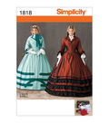 Simplicity Patterns 1818-Misses\u0027 Civil War Costume