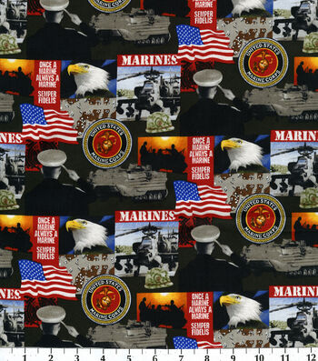 "United States Military Cotton Fabric 43""-Logo"