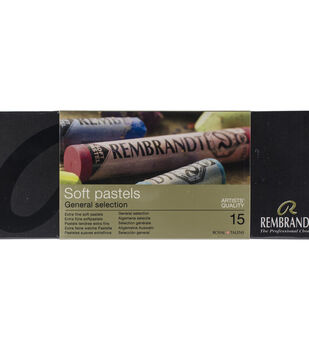 Rembrandt 15 pk Full Stick Extra Fine Soft Pastels-General Selection