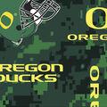 University of Oregon Ducks Fleece Fabric -Digital