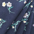 Silky Crinkle Rayon Fabric-Navy Breezy Floral