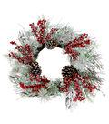 Blooming Holiday Christmas 22\u0027\u0027 Glitter Pinecone & Berry Wreath