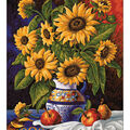 Diamond Embroidery/Printed/Gem Kit 48X38cm-Sunflowers\u0027 Bunch