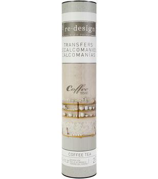Prima Marketing Re-design Decor Colored Transfer 18''x11.3''-Coffee Tea