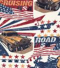Snuggle Flannel Fabric 42\u0022-American Roadtrip