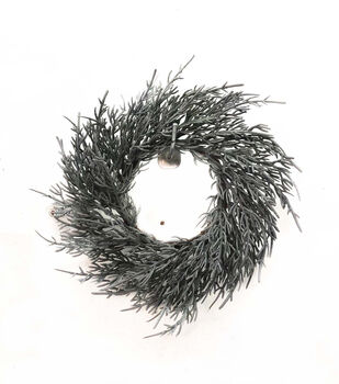 Handmade Holiday Christmas 10'' Cypress DIY Wreath-Gray