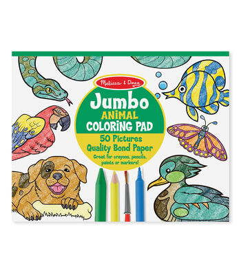 Melissa & Doug Jumbo Coloring Pad - Animal
