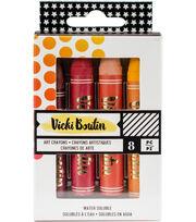 Vicki Boutin Mixed Media Oil Pastel Art Crayons 8/Pkg-#1 - Warm, , hi-res