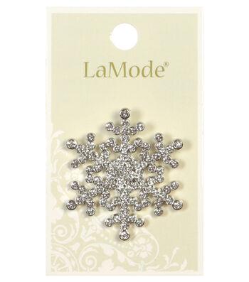 LaMode 41mm Rhinestone Snowflake