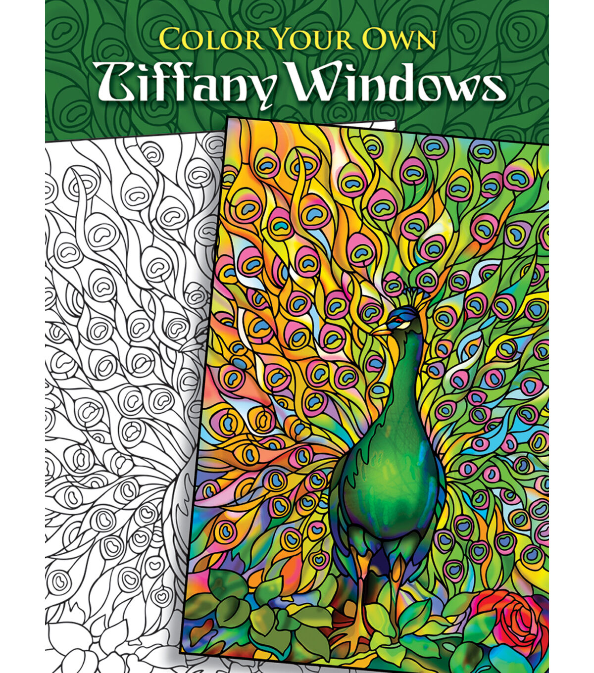 Dover Publications-Color Your Own Tiffany Window