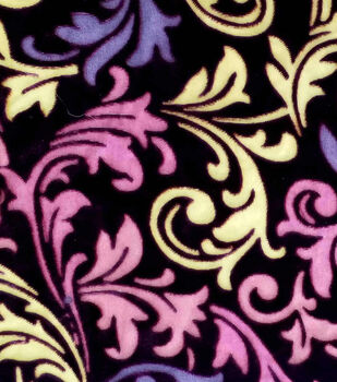 Silky Velvet Burnout Fabric-Multi Swirls