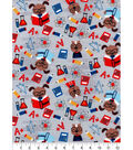 Snuggle Flannel Fabric -Physics Animals