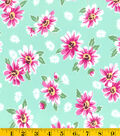 Stonehill Collection Cotton Fabric - Floral Green
