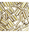 1/4 inch Glass Bugle Beads, Gold, 7 grams