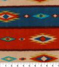 Anti-Pill Fleece Fabric 59\u0022-Bear Lodge Aztec Stripe