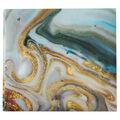 Park Lane Scrapbook 12\u0022x12\u0022-Teal Gold Marble