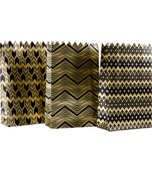 K&Company Black And Gold Gift Sacks