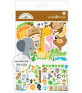 Doodlebug 73 pk Odds & Ends Cardstock Die-Cuts-At The Zoo