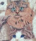 Anti-Pill Fleece Fabric 59\u0022-Cat Collage