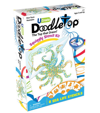 Doodletop Stencil Kit Sea Life