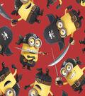 Minions Pirates Red Fleece Fabric