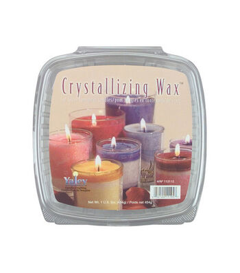 Yaley Crystallizing Candle Wax-1 lb/Glass Containers