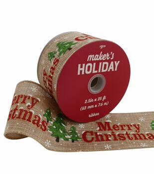 makers holiday christmas ribbon - Burlap Christmas Ribbon