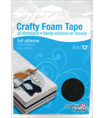 Scrapbook Adhesives Crafty Foam Tape Roll-Black