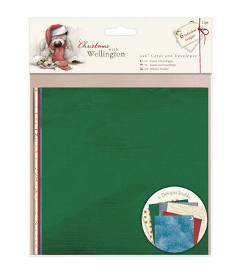 Docrafts Christmas With Wellington 6''x6'' Cards & Envelopes
